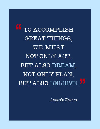 Anatole France quote... Hazel Christy, Registered Professional Planner in Kelowna BC